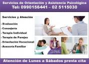 Servicios de psicoterapias. psicólogos en quito