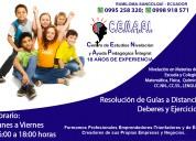 Nivelaciones y ayudas en materias de colegio
