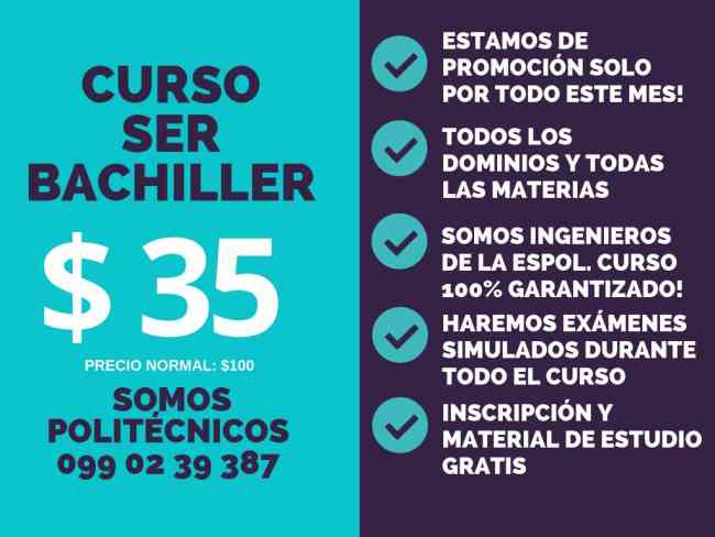 Curso Ineval Ser Bachiller 0990239387 Guayaquil