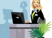Office employees(empleada de oficina)recepcionista