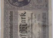 Billete funf mark 1917