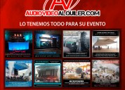 Alquiler de equipos audiovisuales para sus eventos