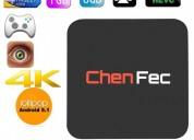 Android tv box canales internacionales 4k wifi ott