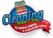 Lavanderia 24 7 sin limite de horario su ropa limpia a cualquier hora