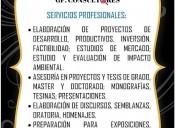 Asesoramiento y consultoria de proyectos