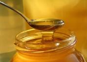 Miel de abeja en frascos y granel.