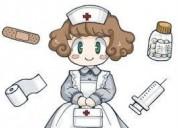Enfermera presto los servicios a domicilio.