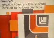 Asesoria en proyectos tesis de grado