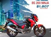 Motocicleta ranger bs 200 ninja en cayambe