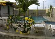 Arriendo alquilo casa en villamil playas con piscina 6 dormitorios