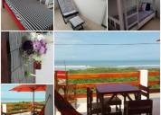Casa en alquiler frente al mar en san jacinto manabi 3 dormitorios