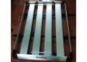 Parrilla aluminio universal color plata 1m x1 40m en loja