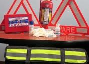 Kit de carretera en 20 usd con extintor recargable y envio gratis en quito