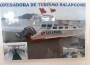 Lancha de turismo 16 pasajeros 9m x 2m.