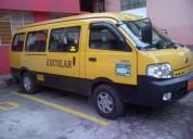 Furgoneta buseta de transporte escolar kia pregio 2011.
