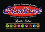 Fundas plásticas impresas