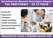 Consultorio de atención psicológica integral