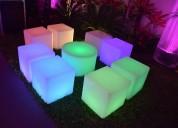 Salas led lounge- muebles iluminados para fiestas