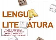 Tareas dirigidas, guÍas,trabajos lengua-literatura