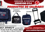 Maletas,mochilas,maletines,canguros publicitarios en ecuador