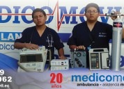 Medicomovil unidad de terapia intensiva.