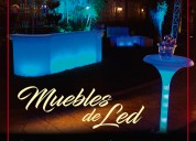 Rentamos muebles led