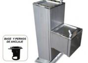 Bebederos de agua pedestal antivandÁlico en acero