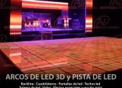 Pista led y arcos led 3d de alquiler