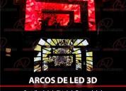 Arcos de led 3d de alquiler