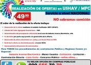 ofertas a nivel nacional, realización en ushay/mfc