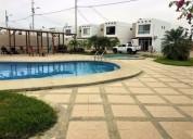 Vendo casa en urbanizacion privada con salida al mar 4 dormit 120 m2