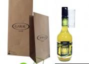 Bolsas de papel kraft biodegraedables para licores