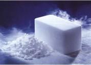 Distribución de hielo seco y nitrógeno líquido