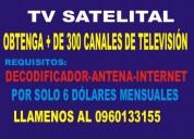 Tv. satelital por solo 6 dólares mensuales