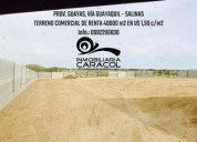 Via guayaquil salinas terreno comercial residencial vendo m2