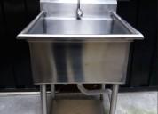 Lavabo industrial de acero inoxidable completo
