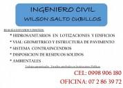 Ingeniero civil realiza