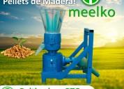 Maquina para pellets con madera pto 80-120kg/h