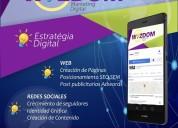Creacion de pagina web y manejo de redes sociales