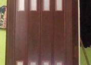 puertas plegables con vitrales de pvc pre armadas