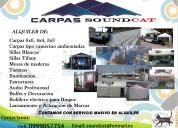 Alquiler carpas sillas tarimas audio etc