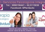 Terapia individual. terapia de pareja. quito