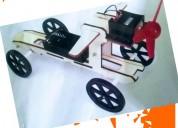Carrito de madera eléctrico armable