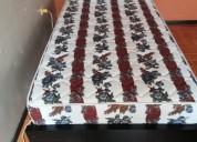 Cama nueva con colchón y almohada