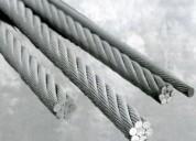 Cables acero inox/ galvanizado / alma de yute /ace