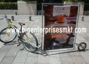 ● publicidad móvil, bicicletas publicitarias