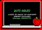 Clases de ingles via net