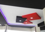 Instalación de tumbados gypsum ,yeso ,diseños ,mol