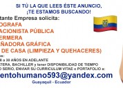 Buscamos personal femenino en guayaquil