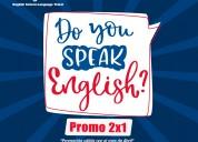 Promo 2x1 cursos de inglés